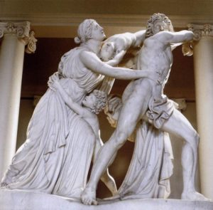 marble sculpture: The Fury of Athamas