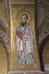 A mosaic of the apostle Paul