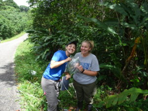 Anne and Julia were super excited to collect a whole female branch to look at back at camp