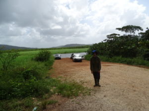 Andrew, happy to reach the end of Kaw Road, where most of the collection took place.